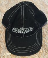 Coors Light Spell Out Logo Men's Baseball Hat Cap Black Strap Back The Game