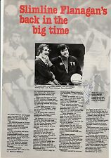 MIKE FLANAGAN/STEVE KEMBER CRYSTAL PALACE ORIGINAL HAND SIGNED MAGAZINE CUTTING
