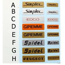 Simplex Gipiemme Edco Peugeot Spidel replacement decal choices one set only.