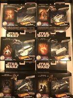 Hot Wheels Starships Star Wars Starfighter Commemorative Series Ships (Lot 1-6)