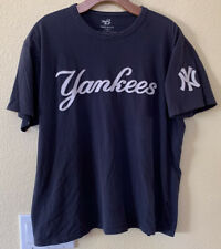 New York Yankees Embroidered Banner 47 Men's T Shirt Size L