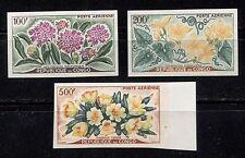 FLOWERS ON CONGO 1961 Scott C2-C4, IMPERFORATE, MNH