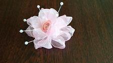REGNO Unito-Rosa-Fiori in Organza e nastro-Applique, guarnizioni, matrimonio - 50mm x 1