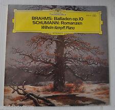 WILHELM KEMPFF: Brahms : Balladen op.10, Schumann : Romanzen LP Record