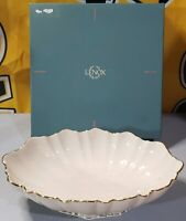 "Vintage LENOX SYMPHONY CHINA 11"" Footed Center Piece Bowl 24K GOLD TRIM..w/Box"