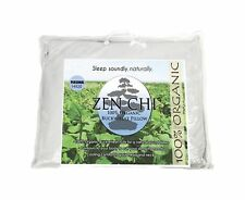 "Zen Chi Buckwheat Pillow- Organic Personal Size (14""X20"") w Natural Cooling T."