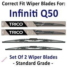 Wiper Blades 2-Pack Standard Wipers - fit 2014+ Infiniti Q50 Q-50 - 30260/170