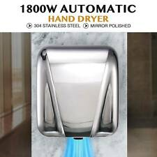 Stainless Steel Automatic Electric Hand Dryer Machine Commercial Bathroom 1800W