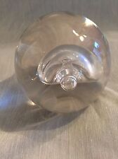 LARGE CRYSTAL CLEAR MURANO PAPERWEIGHT  BY PINO SIGNORETTO - Signed