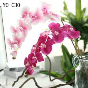 11 Heads Real Touch Latex Flower Orchid Artificial Wedding Hometable Floral Deco