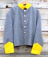 civil war confederate reenactor cavalry shell jacket  46