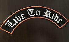 Live to ride patch bannière xl 33x6,0 cm rockabilly old school Biker Blouson MC