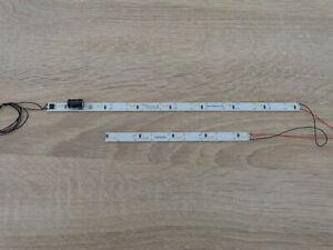 3X  LED Waggonbeleuchtung Doppelstockwagen 230/135mm mit Flackerschutz Elko