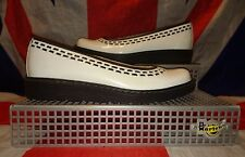 Rare*White Patent Dr Doc Martens Flat Shoes*Goth*Punk*Dolly*Kawaii*Quirky*UK 3