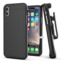 Apple iPhone X Slim Belt Case + Holster Clip & Screen Guard SD45BK2 Black