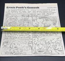Rare 1984 LYNDA BARRY Los Angeles Comic Strip Cartoonist Ernie Pook's Comeek