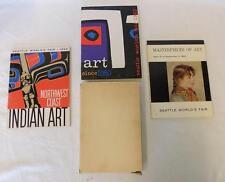 Seattle Worlds Fair 1962 Northwest Coast Indian Art Masterpieces Set of 3 Books