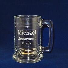 Glass Beer Mug, Beer Stein 15oz.  Personalized Dishwasher safe