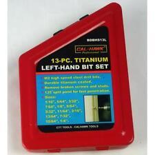13 pc Titanium Left Hand Drill Bit Set