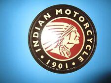 tin metal garage motorcycle bike man cave advertising decor gas oil indian