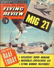 RAF FLYING REVIEW APR 61 WW2 LUFTWAFFE MARSEILLE_RAAF_MIG-21_CC-106 RCAF_CA-12