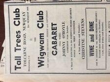 b1n ephemera 1968 advert tall tress newquay christine stevens johnny o'boyle