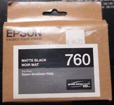 Genuine Epson ink 760 Matte Black T760820 SEALED 2016