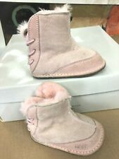UGG BABY BOO Powder Pink Infant Suede Sheepskin Toddler Boot Size  S 2/3