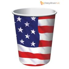 Usa Paper Cups 9oz (8pcs) - American Flag Party Plates Napkins Style Fancy