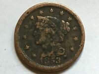 1 Cent USA Braided Hair 1853 #32#