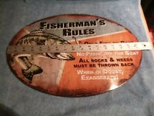 Rivers Edge Fisherman's Rules Tin Sign 1537