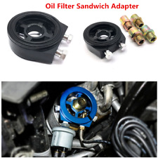 Oil Filter Black  Adapter Sandwich Plate Mount Gauge Pressure Temp Sensor 1/8 NP