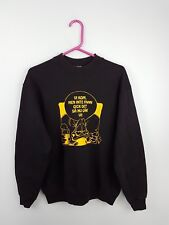VTG RETRO MENS BLACK USA ATHLETIC SPORTS OVERHEAD SWEATSHIRT JUMPER UK S/M