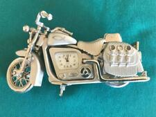 Heavy Metal Decorative Novelty Motorcycle Desk Clock ~ Needs Battery