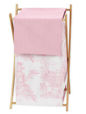 Sweet Jojo Designs Baby Kids Clothes Laundry Hamper for Pink Toile Bedding Sets