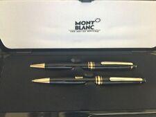 Montblanc Meisterstuck Black Ballpoint Pen  &  0.7mm Pencil Set New  In Box