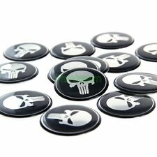 20pcs 50mm Tyre Wheel Center Hub Cap Punisher Emblem Badge Decal Symbol Sticker