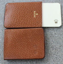 Rare Rolex Camel Brown Leather 2 Piece Notecard Notepad Business Cardholder