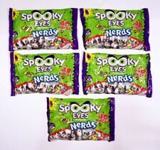 5x NERDS 13 oz SPOOKY EYES TANGY BUBBLE GUM 200 PIECES TOTAL! ~ FREE SHIPPING!