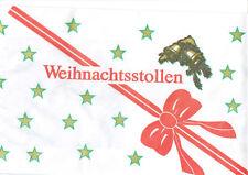10 Stück Stollenbeutel Pergament  Weihnachten  Pergament 20x7x46cm Stollentüte