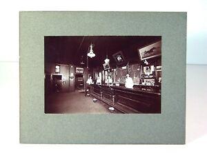 1905 SALOON / BAR ROOM INTERIOR CARD MOUNT PHOTO WITH RARE COCA-COLA CALENDAR