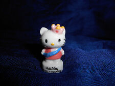 HELLO KITTY White BEAUTY QUEEN PAGEANT Mini Figure French Porcelain FEVES SANRIO