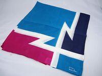 Desco handkerchief neck scarf blue white Navy Z shape design logo New