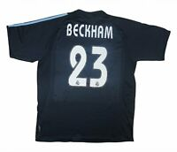Real Madrid 2003-04 Authentic Away Shirt Beckham #23 (Excellent) L Soccer Jersey
