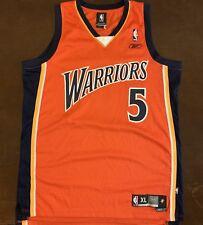 Rare Vintage Reebok NBA Golden State Warriors Baron Davis Orange Jersey cf6c643a5