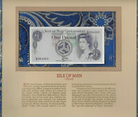 Most Treasured Banknotes Isle of Man 1 Pound 1979 P-34a UNC Prefix K