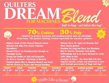 Quilters Dream Blend for Machines King Roll Batting~70/30 Cotton Poly