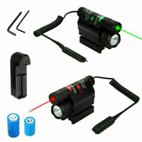 Green/Red Laser Sight Scope Hunting Flashlight Quick Release Fit 20mm Rail Mount