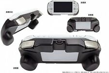 PS Vita Slim PSV 2000 2001 2002... Grip Handle Cover Case + L2 R2 Trigger WHITE