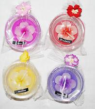FLOWER TEA LIGHT CANDLE HOLDER;SEA MIST /& LAVENDER,HAWIIAN GARDENIA,MANGO-NEW